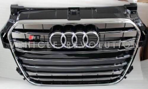 Audi A1 S1 Black Grille Chrome Frame Chrome Rings 2013