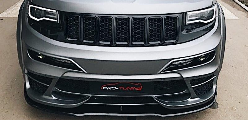 Renegade Tyrannos Jeep Grand Cherokee Wk V Front Bumper Splitter on Jeep Grand Cherokee Hood
