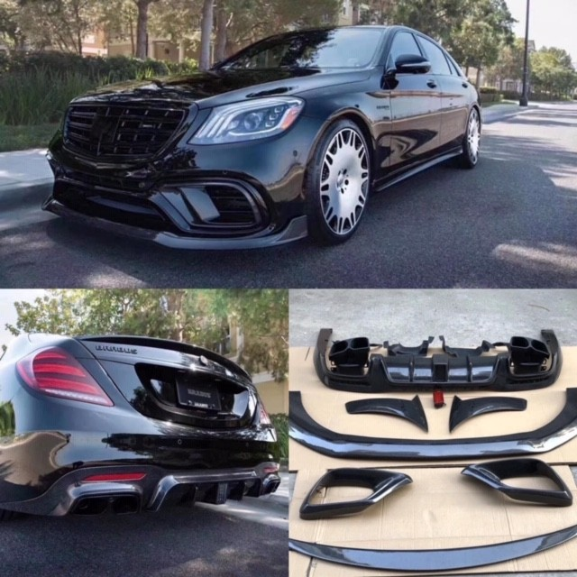 Mercedes Benz AMG S63 S-class W222 2018+ Carbon Fiber B Style upgrade pack