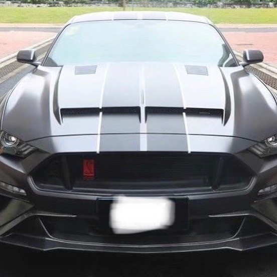Mustang Vented Carbon Fibre Bonnet Hood for all 2018-2019-2020 7th Gen Ford Mustang models