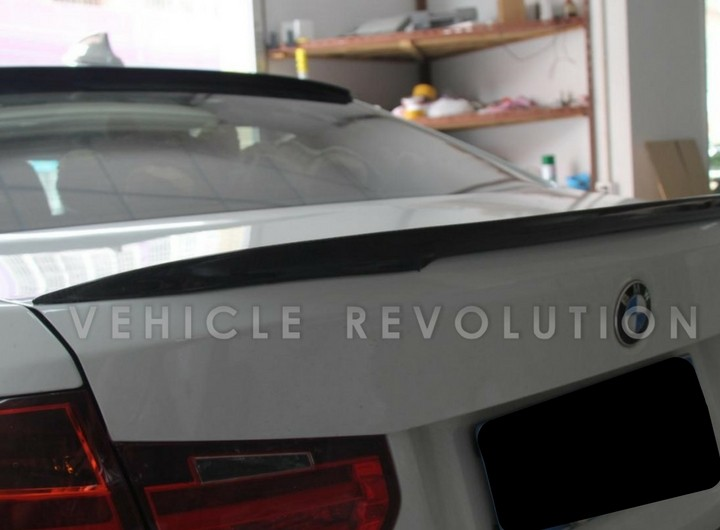 Bmw 3 Series F30 Performance Style Rear Spoiler Dry Carbon Gloss