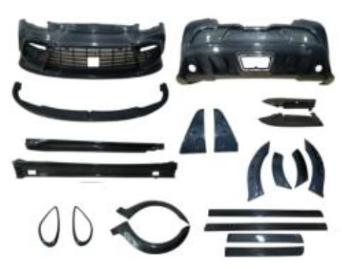 Porsche Panamera Mansory Style Mid Exhaust Full Carbon Body Kit Upgrade 2011-2013