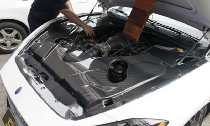 Maserati Gt Style Revolution Carbon Fiber Engine Bay Cover