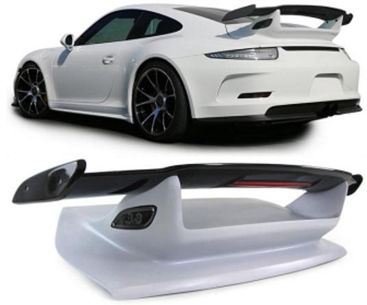 Porsche 911 991 Upgrade GT3 Style Carbon Trunk Boot Wing Aero Spoiler 2012 - 2017