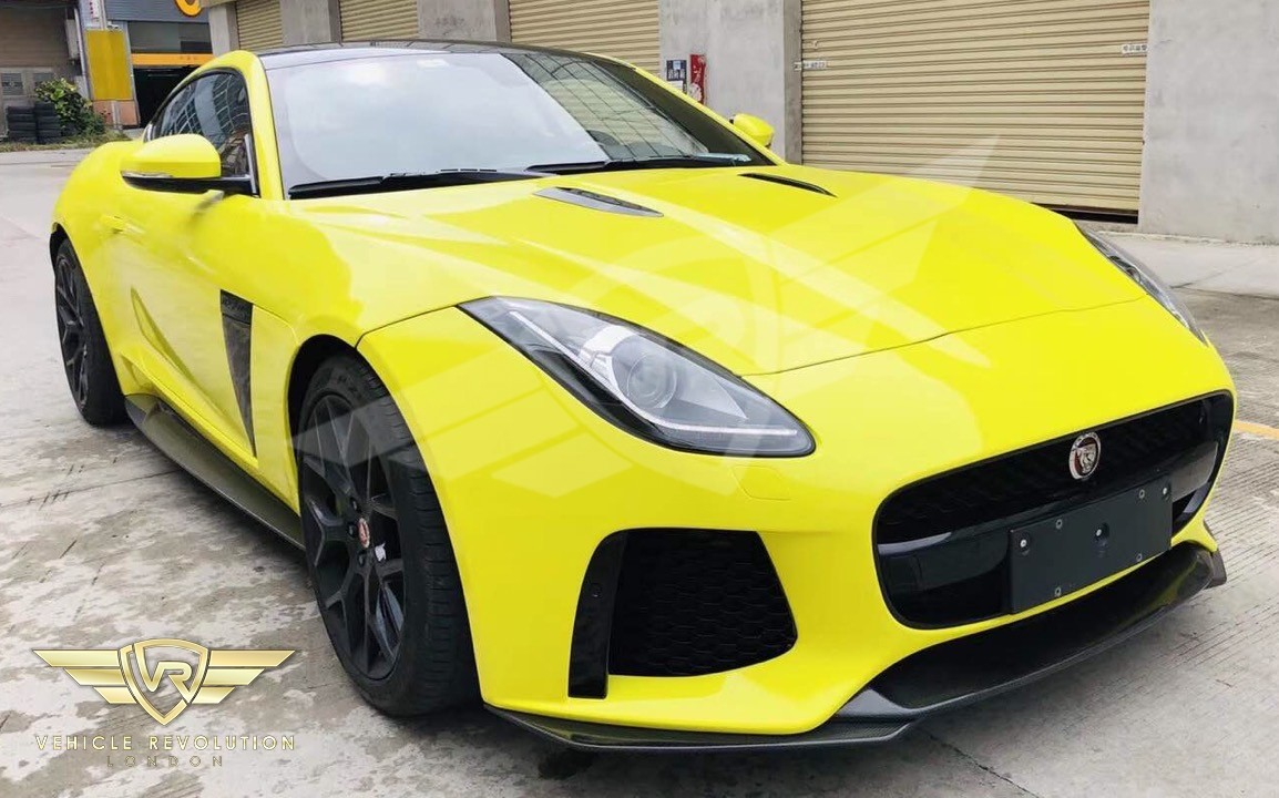 JAGUAR F-TYPE SVR STYLE FRONT BUMPER UPGRADE FOR ALL MODELS 2016 2017 2018 2019