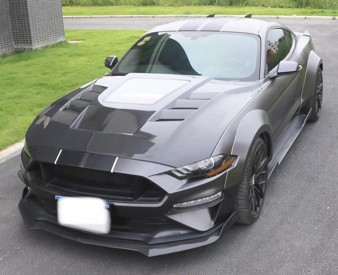 Mustang Carbon Fibre Exhibition Vented Bonnet Hood for all 2018 2019 2020 Ford Mustang models