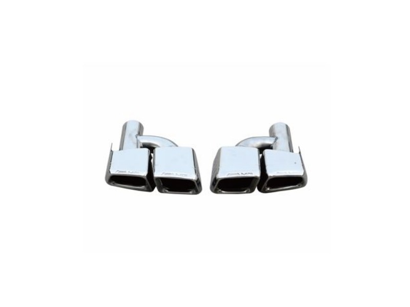 Mercedes-Benz W204 C63 AMG Square Stainless Steel Exhaust Tips 2008 - 2014