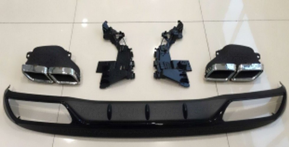 Mercedes-Benz W205 C63 Rear Diffuser With Exhaust Tips 2015 2016 2017