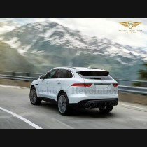 Jaguar F Pace Rear Quad Tips Valance Diffuser Bumper Upgrade