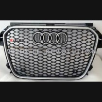 Audi  A1 RS1  Black Grille, Silver Frame, Chrome Rings 2013 2014 2015