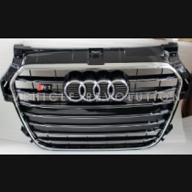 Audi  A1 S1  Black Grille, Chrome Frame, Chrome Rings 2013 2014 201 2016 2017