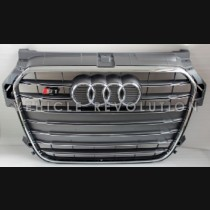 Audi  A1 S1  Grey Grille, Chrome Frame, Chrome Rings 2013 2014 201 2016 2017