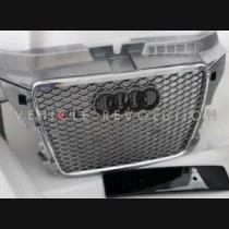 Audi A3 RS3 8P Silver Grille  Chrome Frame, Black Rings 2015