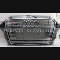 Audi A3 S3 Grey Grille, Chrome Frame, Chrome Rings 2013 2014 2015