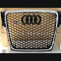 Audi  A4 RS4  Black Grille, Chrome Frame, Black Rings 2010 2011 2012 2013