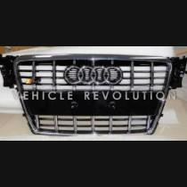 Audi  A4 S4  Black Grille, Chrome Frame, Chrome Rings  2010 2011 2013 2014 2015