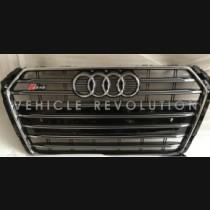 Audi A4 S4  Black Grille, Chrome Frame, Chrome Rings 2015 2016
