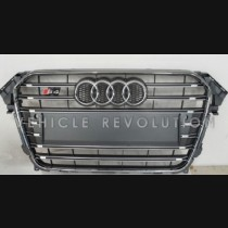 Audi  A4 S4  Grey Grille, Chrome Frame, Chrome Rings 2013 2014 2015 2016 2017