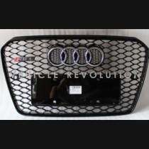 Audi  A5 RS5  Black Grille, Black Frame,  Chrome Rings 2013 2014 2015