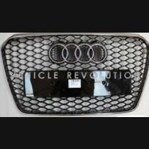 Audi  A5 RS5 Black Grille,  Chrome Frame,  Chrome Rings 2013 2014 2015