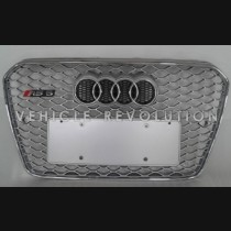 Audi  A5 RS5 Silver Grille,  Chrome Frame, Chrome Rings 2013 2014 2015