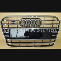 Audi  A5 S5  Black Grille, Chrome Frame, Chrome Rings 2013 2014 2015