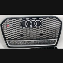 Audi  A6 RS6 Black Grille  Black Frame, Chrome Rings, Silver Lower Frame 2016 2017