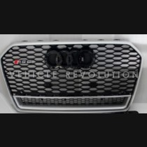 Audi  A6 RS6 Black Grille  Silver Frame, Black Rings, Chrome Lower Frame 2016 2017
