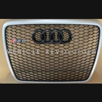 Audi  A6 RS6  Black Grille, Silver Frame, Silver Rings 2010 2011 2012