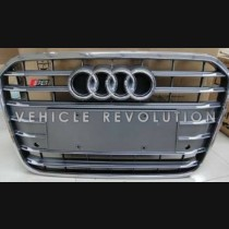 Audi  A6 S6  Black Grille, Black  Chrome Frame,  Chrome Rings 2013 2014 2015