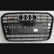 Audi  A6 S6 Black Grille Black Frame, Chrome Rings 2013 2014 2015