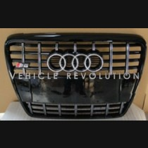 Audi  A6 S6  Black Grille, Chrome Frame, Chrome Rings 2010 2011