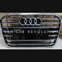 Audi  A6 S6  Black Grille,  Chrome  Frame,  Chrome Rings 2013 2014 2015