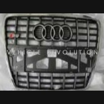 Audi  A6 S6  Grey Grille, Chrom Frame,  Chrome  Rings 2010 2011