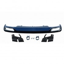 Audi A6 W12 Style Rear Diffuser Valance With Exhaust Tips 2013 2014 2015