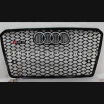 Audi  A7 RS7  Black Grille, Chrome Frame, Chrome Rings 2013 2014 2015