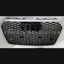 Audi  A7 RS7 Black Grille  Silver Frame, Black Rings 2016 2017