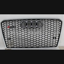 Audi A7 RS7  Black Grille, Silver Frame, Chrome Rings 2013-2015