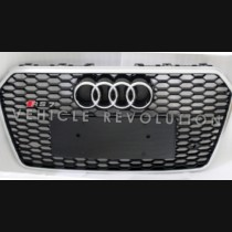 Audi  A7 RS7 Black Grille  Silver Frame, Chrome Rings 2016 2017