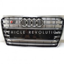 Audi  A7 S7  Black Grille, Chrome Frame, Chrome Rings 2013 -  2015