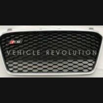 Audi  R8  Black Grille, Silver Frame 2013
