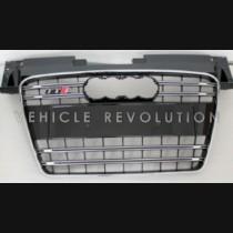 Audi  TTS Grey Grille, Chrome Frame, Black Chrome Rings 2008 2009 2010 2011 2012 2013 2014