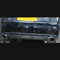 Audi A7 Carbon Fiber Coloured Rear Diffuser With Exhaust Tips 2013 2014 2015