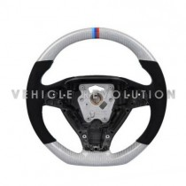 BMW 5 Series (F10/F18) Carbon White Steering Wheel 2012+ With Perforated Leather Grip
