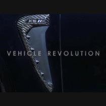 BMW X5 F15 X6 F16 F85 X5M F86 X6M Carbon Fiber & ABS Fender Trim 2012-2017