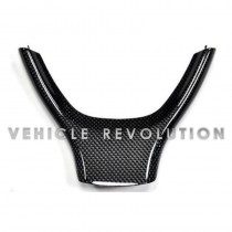BMW F10 F11 F07 Carbon Fiber & ABS Steering Wheel Trim  M Sport Only Replacement 2011-2013