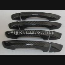 VW Golf 6 Scirocco Bora Passat Dry Carbon Fiber Exterior Door Handle Covers 2008 - 2012