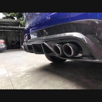 Jaguar F Pace Rear Carbon Fibre Quad Tips Carbon Fibre Valance Diffuser Bumper Upgrade