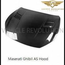 Maserati Ghibli Carbon Fibre AS Style Bonnet / Hood for 2013 - 2017 models