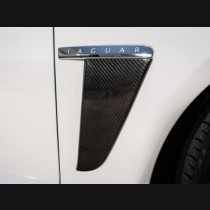 Jaguar XF Carbon Fiber Fender Trim Cover 2012 - 2015